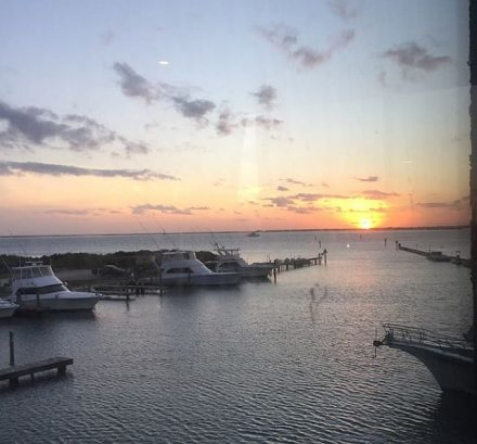 Sunset from Sea Ranch Restaurant and marina on South Padre Island. (J Jacobs photo)