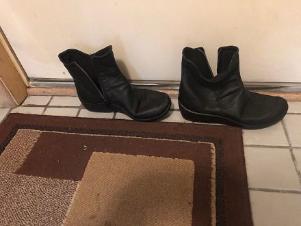 Shoe boots ready by the door. (Photo by J Jacobs)