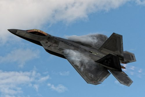 Airshow. Military. F-22. Raptor. (Photo by Nick Moore and courtesy of EAA AirVenture)