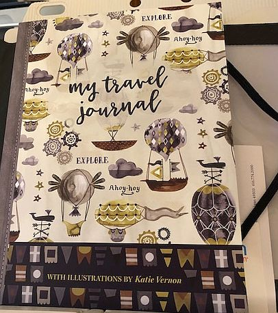 My Travel Journal illustrated by Katie Vernon. (Photo by J Jacobs)
