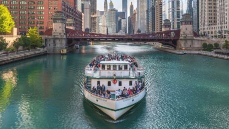 Chicago is still doing its river cruises but tickets go fast because of limited seating during the pandemic. (Chicago Architecture Foundation photo)