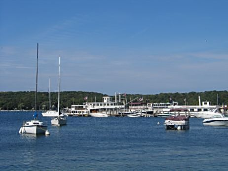 Lake Geneva Wisconsin is a popular Chicago summer destination on Geneva Lake. (J Jacobs photo)