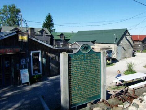 Historic Fishtown at Leland on the Leelanau Peninsula. (J Jacobs photo)