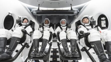 First four person crew to International Space Station (NASA photo)