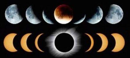 Lunar and solar eclipse (Photo courtesy of NASA)