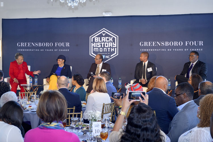 Hornets Foundation Black History Month Commemorating The 60th Anniversary of The Greensboro Four