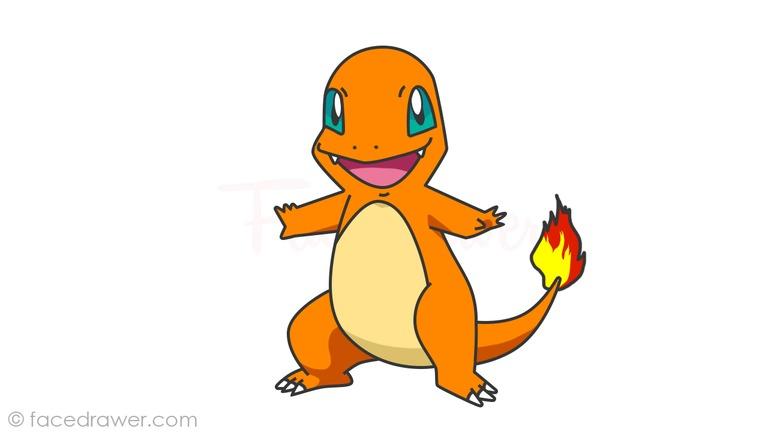 how to draw charmander pokemon step 16