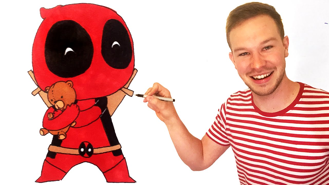 How To Draw Deadpool Chibi Step By Step Drawing Lesson
