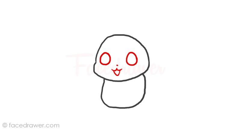 How to draw chibi Pikachu Step 3