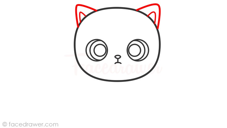 how to draw cute cat step 5