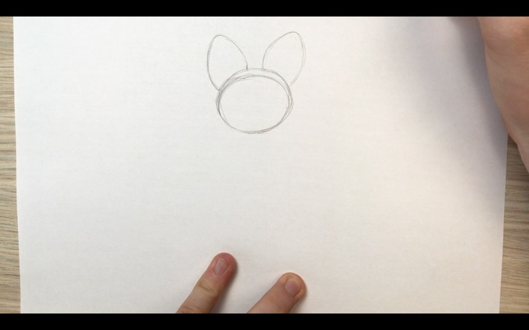 emolga pokemon drawing lesson step 2