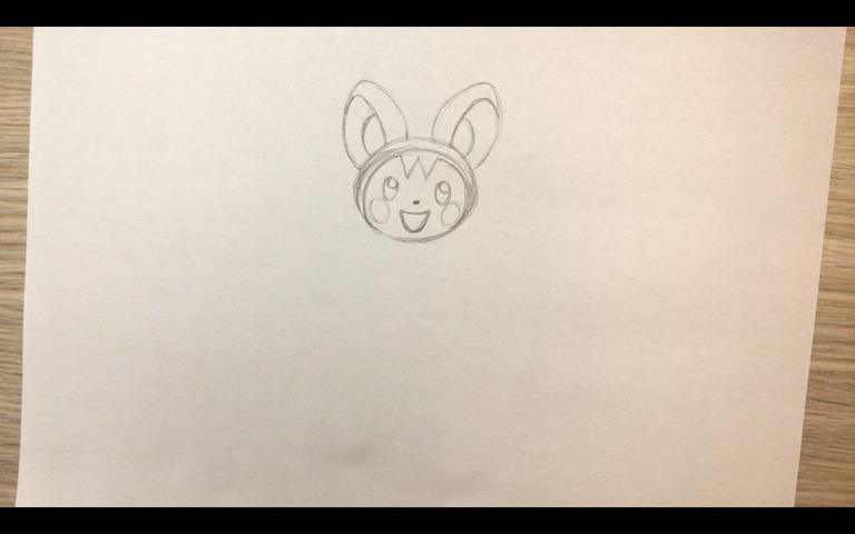 emolga pokemon drawing lesson step 7