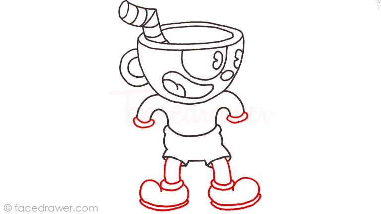 how to draw cuphead step 10