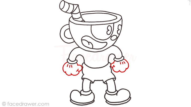 how to draw cuphead step 11