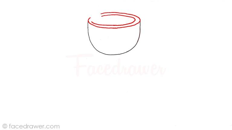how to draw mugman cuphead step 2