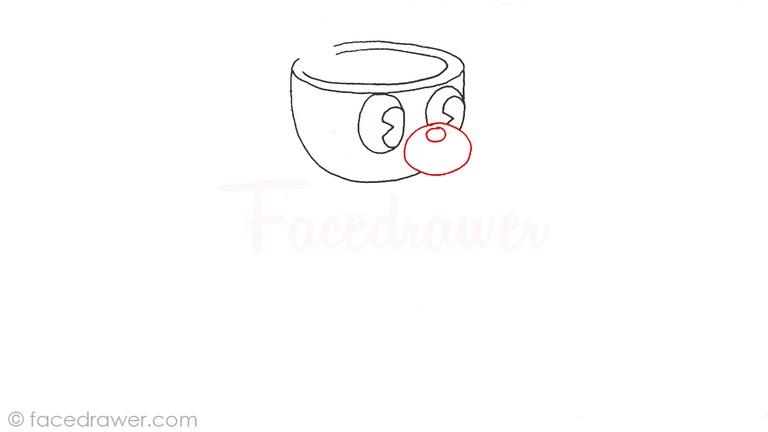 how to draw mugman cuphead step 4