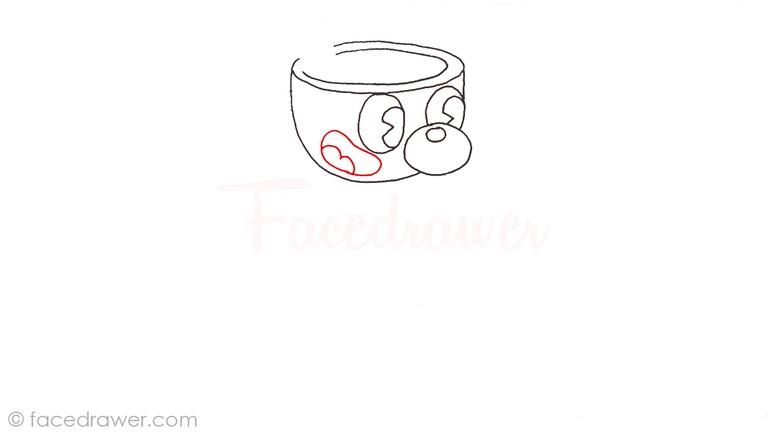 how to draw mugman cuphead step 5