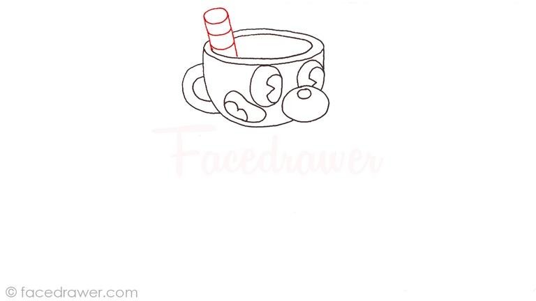 how to draw mugman cuphead step 7