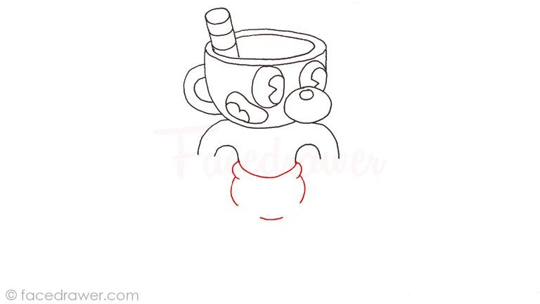how to draw mugman cuphead step 9