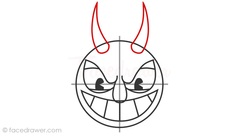 how to draw the devil from cuphead step 8