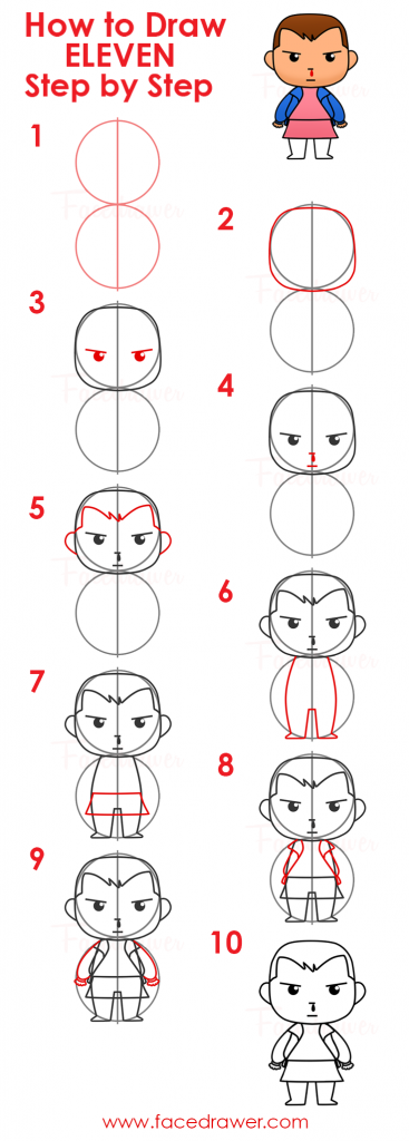 how to draw jane eleven steps infographic