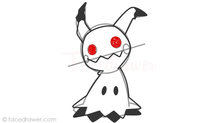 how to draw mimikyu step 10