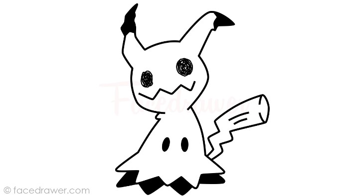how to draw mimikyu step 12
