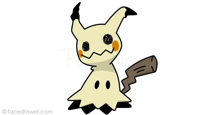 how to draw mimikyu step 13