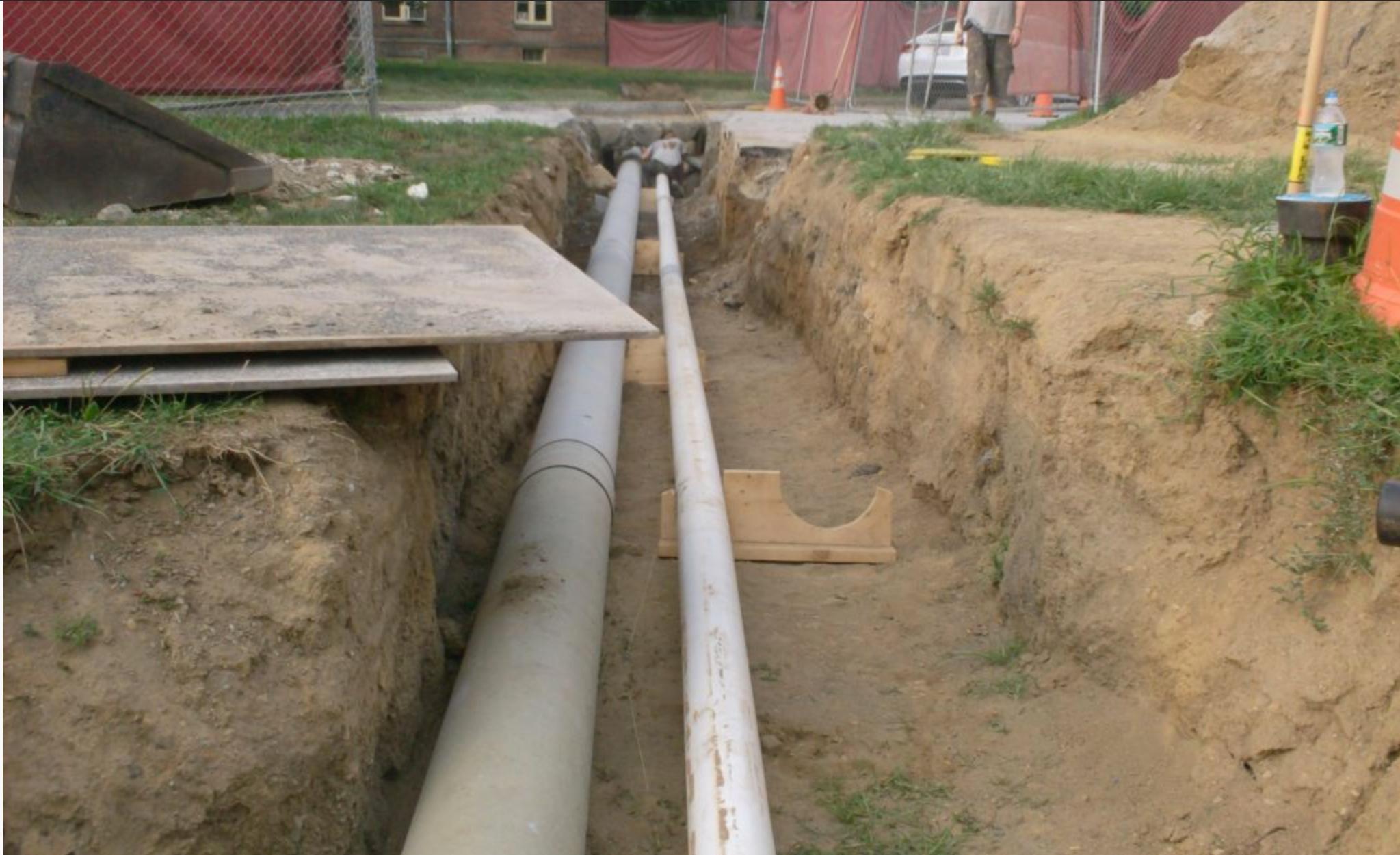 pre-insulated underground pipe
