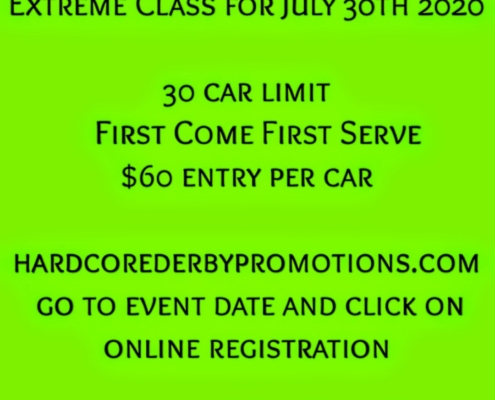 Registration for 2 Man Extreme Class for July 30th 2020