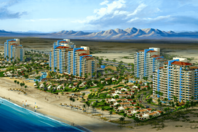 Rendering of the Playa Azul Resort Development.