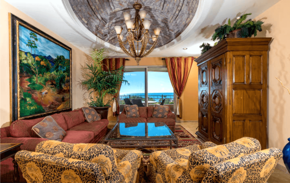 Condo With Stunning Ocean Views Living Room