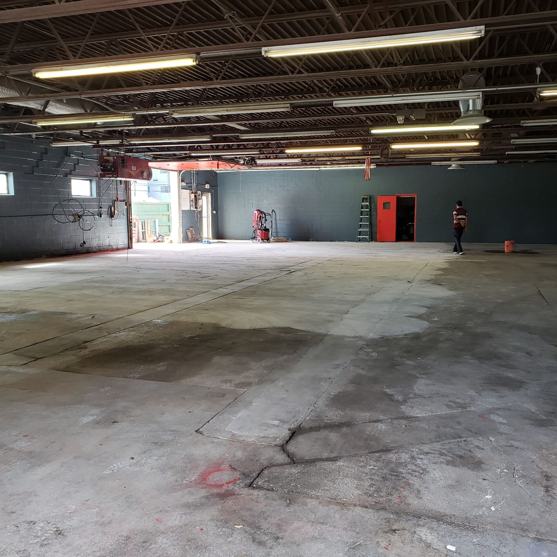 Milford, New Hampshire. Garage, Floor Prep. After 2-min