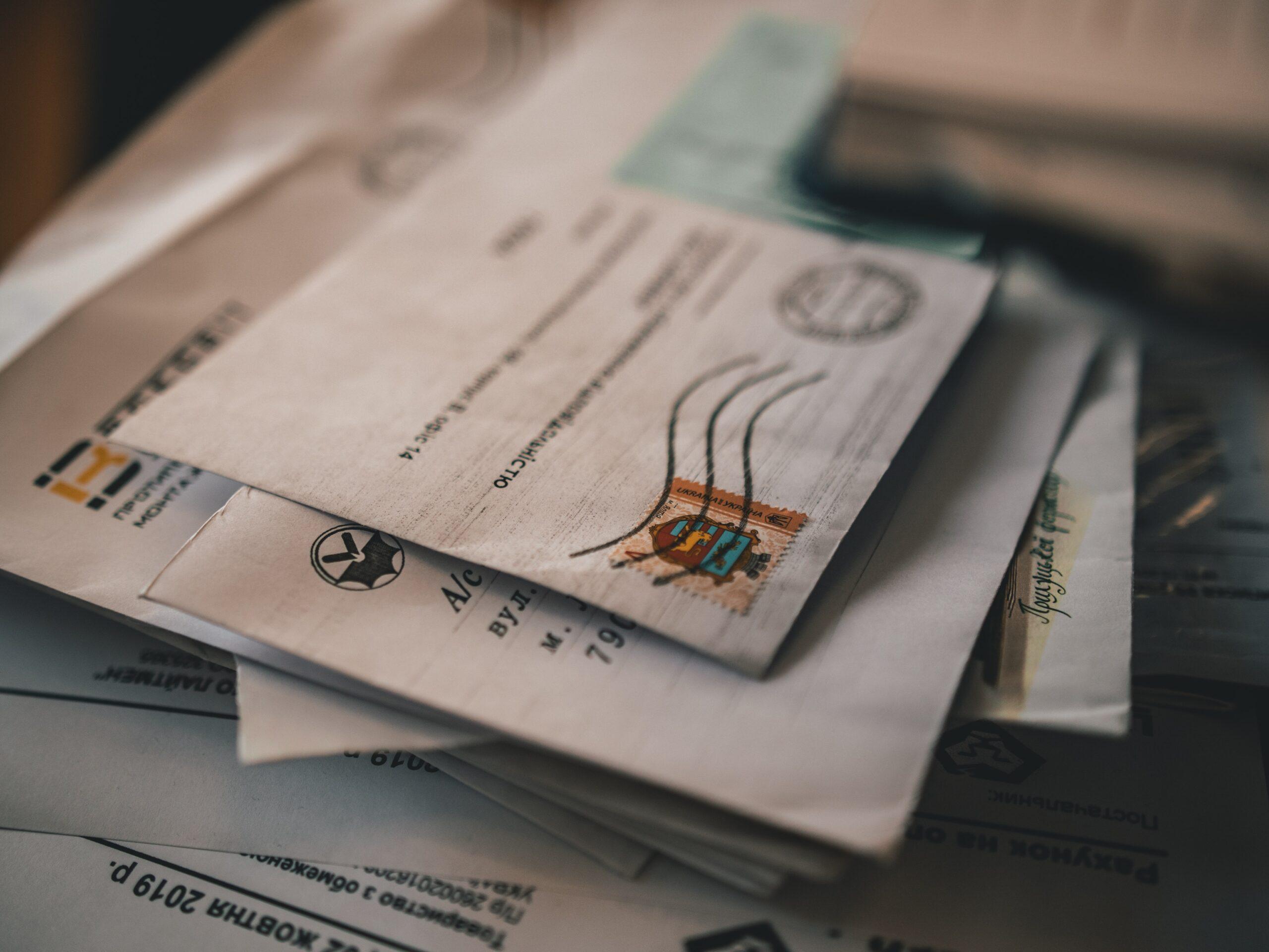 55., action, pay bills online, envelopes, paper, waste