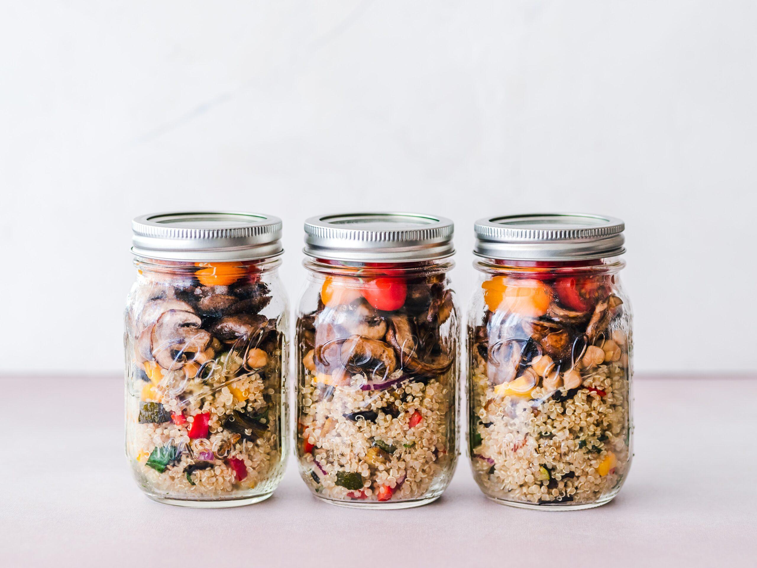 133, action, glass jar, food, waste