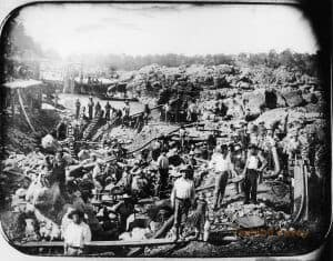 Mining on the American River, 1852