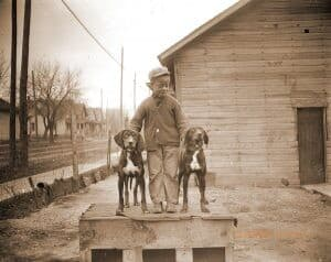 Boy with Hounds