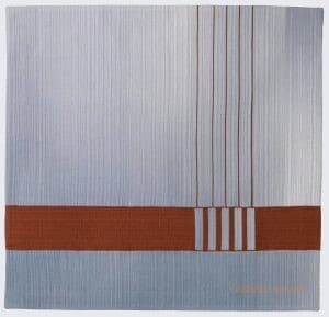 Orange stripes representing the Golden Gate Bridge are overlaid on a white and blue ombre background.