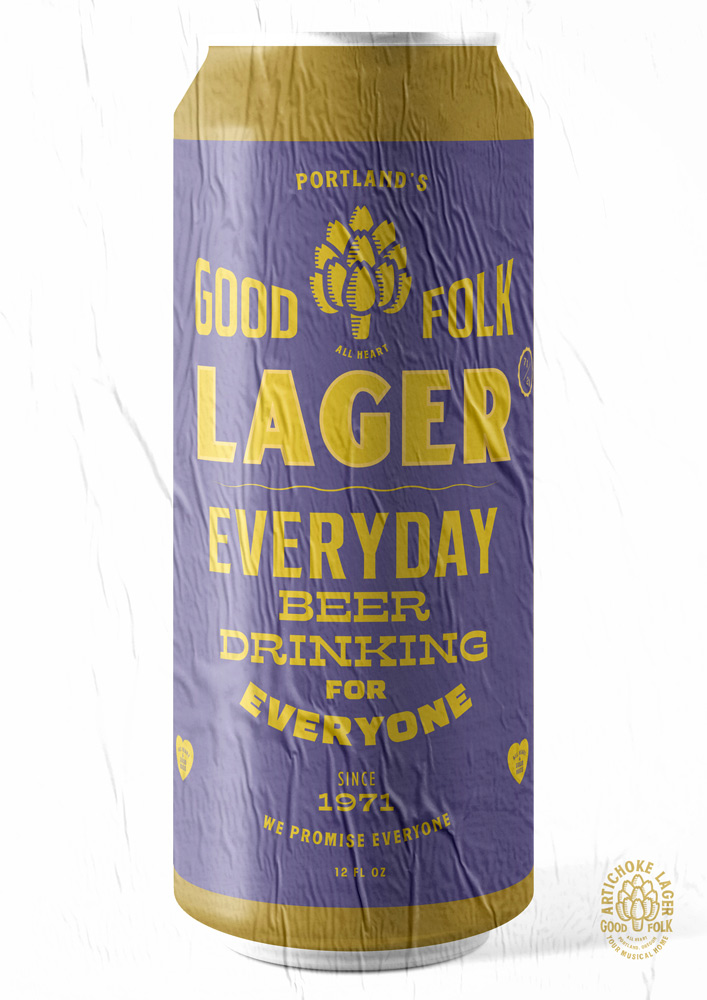 GOOD FOLK LAGER, ARTICHOKE MUSIC POSTER