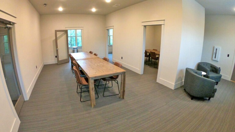 The student center has a computer lab, printer, and group study area.