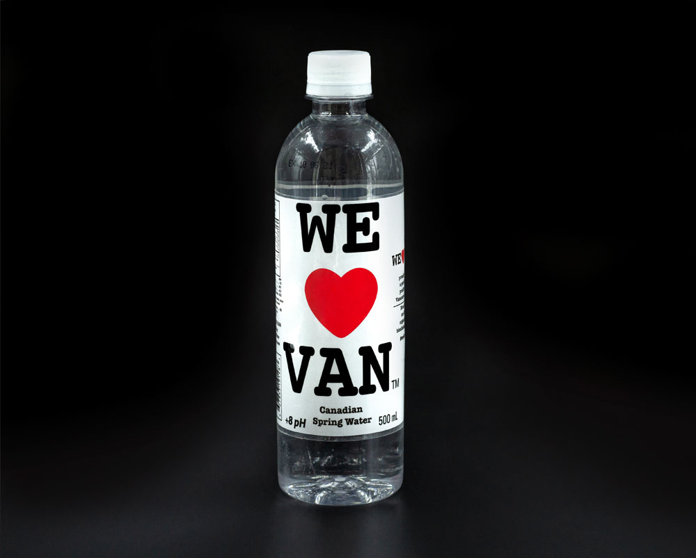 500ml Water Bottle Black BG