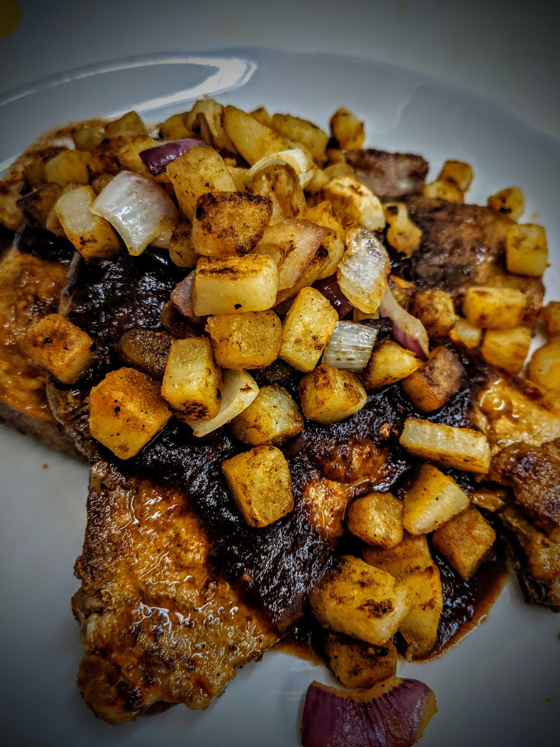 Chile Stewed Pork Chop with Potatoes