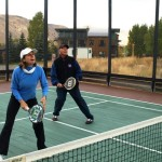 Mixed doubles is frequently played at the RJR paddle camp in Jackson Hole.