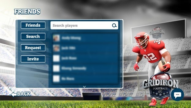 Player Search: search menu to find player by username