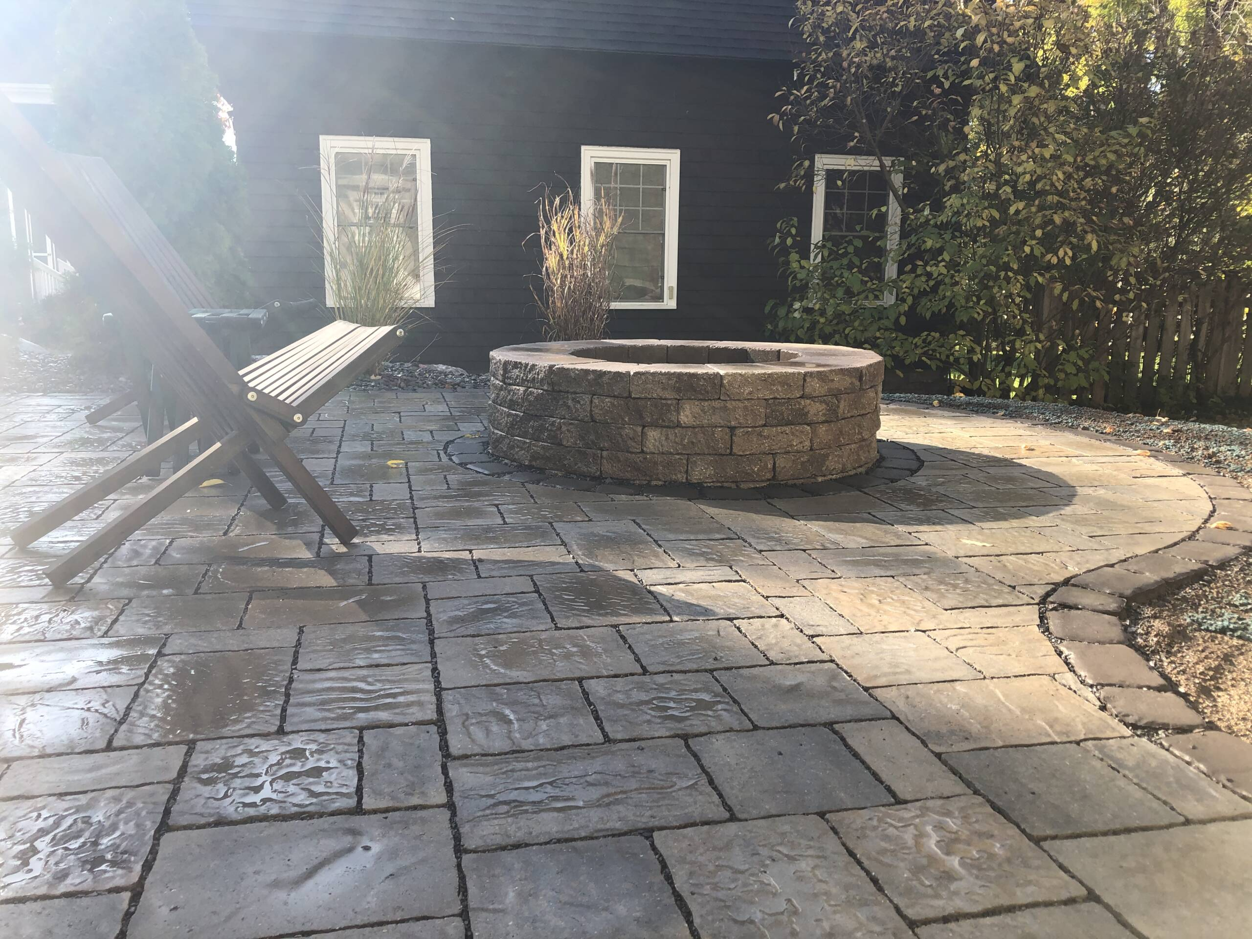 Holmes Landscapes Manlius NY Serving The Syracuse NY Area Outdoor living stonework fire pits stone patio