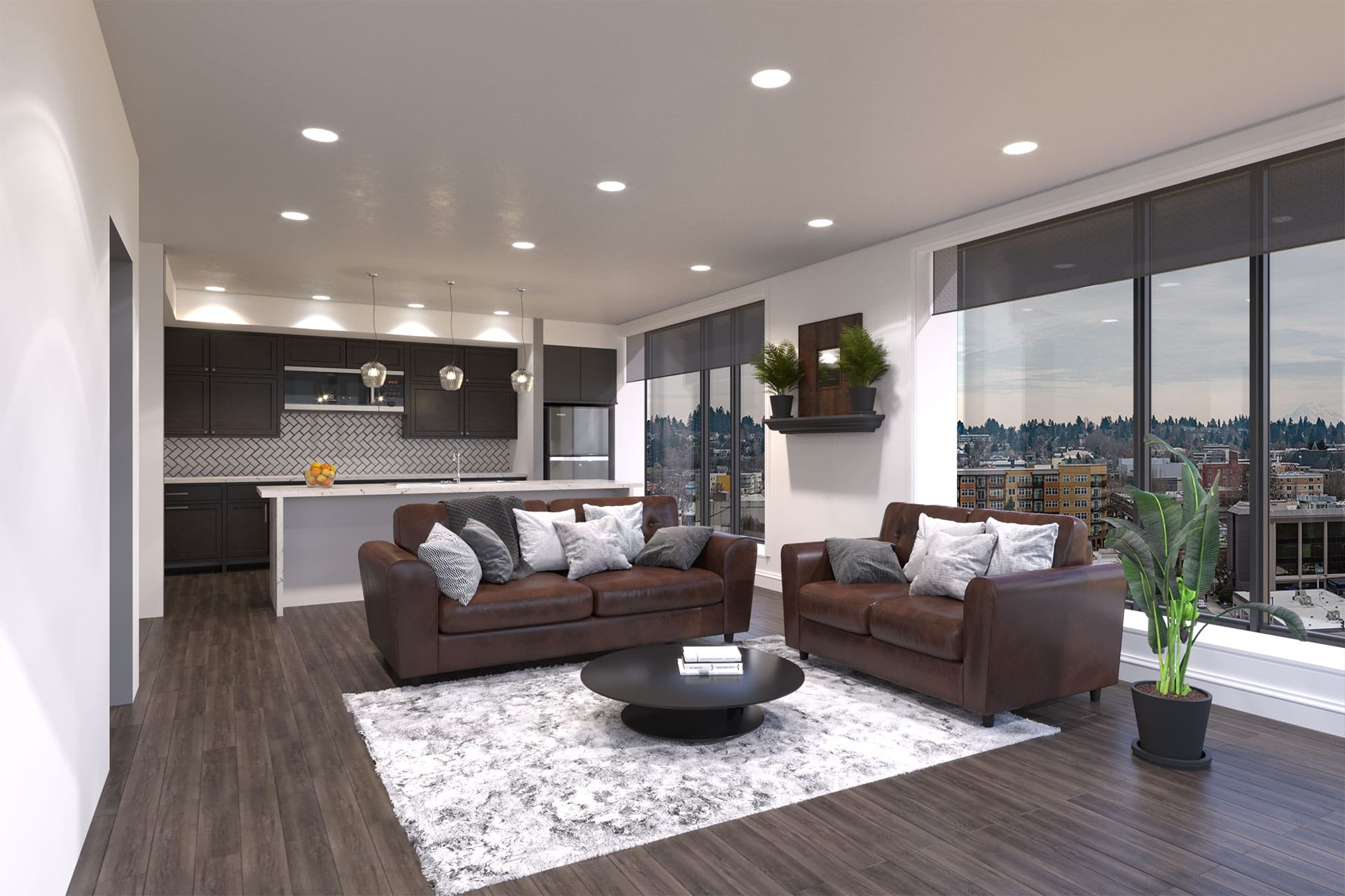 Views on Fifth Living Room Render