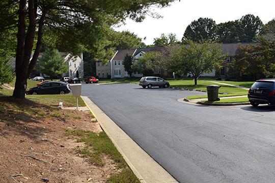 Pro-Pave, Inc.'s paving work at the Lake Ridge Association in Lake Ridge, Virginia