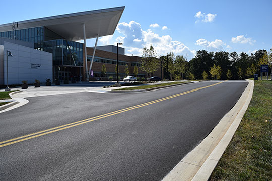 Pro-Pave, Inc.'s paving work at Montgomery College - Germantown, MD campus