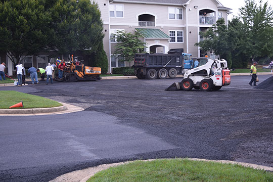 Pro-Pave, Inc.'s paving work at the Fields of Cascades in Sterling, Virginia