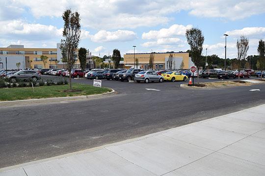 Pro-Pave, Inc.'s paving work at Wakefield High School in Arlington, Virginia